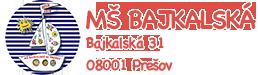 MŠ Bajkalská Logo